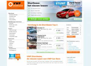 Website met maatwerk CMS en offertesysteem: VWP Shortlease