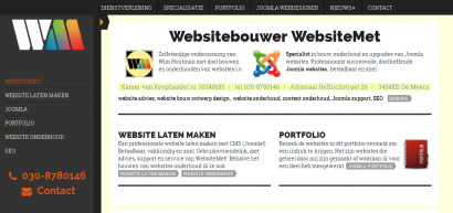 Doeltreffende websites van WebsiteMet